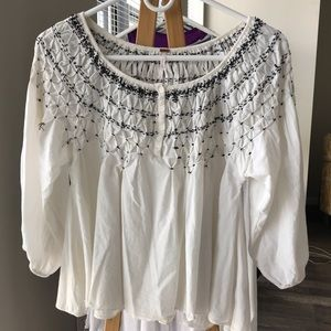 ❗️Sale ❗️Free People White Blouse